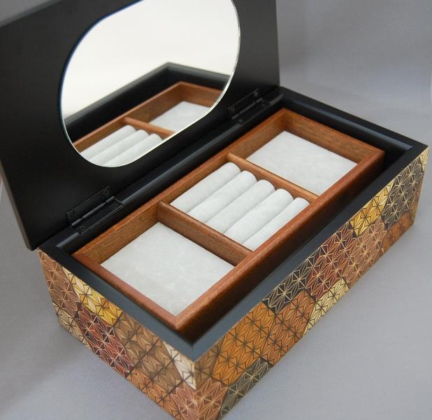 8 Sun Jewelry Box KikkouAsa JAPANESE PUZZLE BOX AND YOSEGI ZAIKU